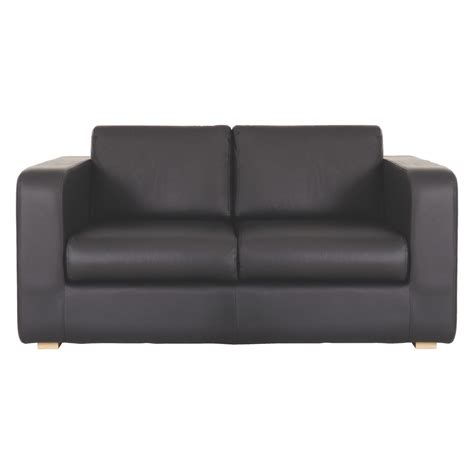 Sofa Bed Black Leather Porto Black Leather 2 Seater Sofa Bed Buy Now At Habitat Uk