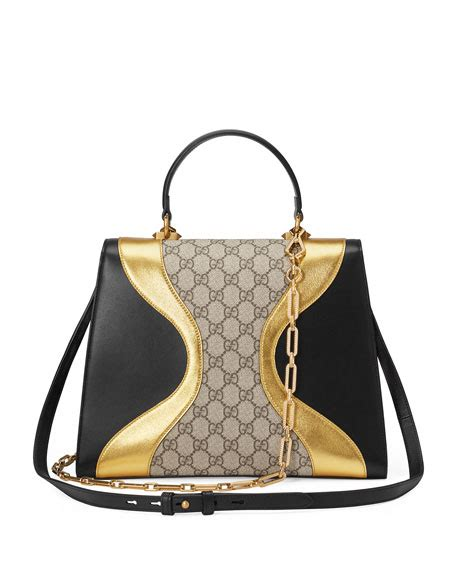 Gucci Noa 3056 Canvas gucci iside medium gg supreme leather top handle bag black pattern in gg supreme canvas