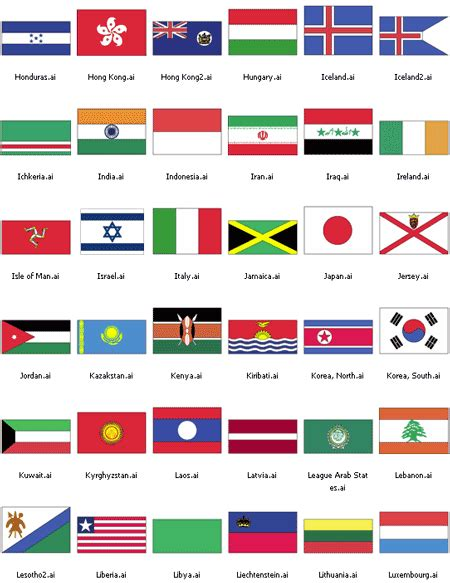 flags of the world pictures with names flags of the world