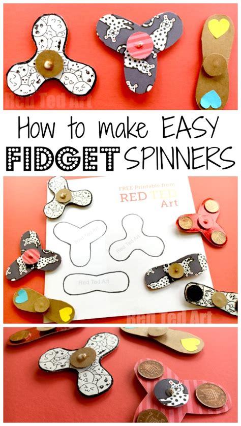 diy free easy fidget spinner diy free template science fair