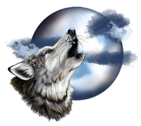 wolf howling tattoo designs howling wolf and moon designs email this blogthis