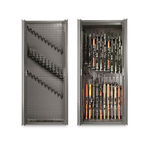 cabinet with gun storage secureit tactical 24 gun storage cabinet with adjustable