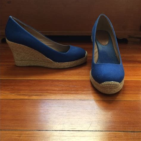 71 j crew shoes jcrew royal blue wedge size 7 from