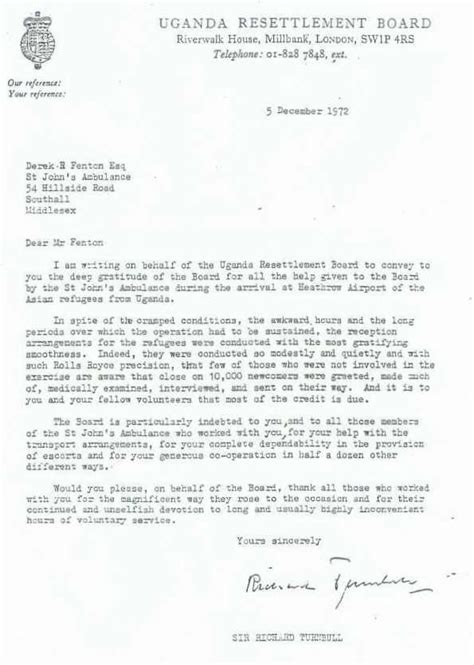 Ambulance Service Request Letter St Johns Ambulance Letters