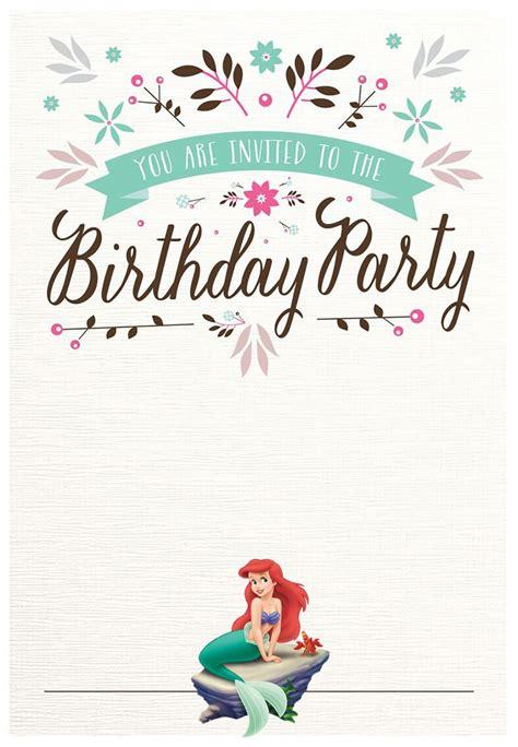 Little Mermaid Free Printable Invitation Templates Mermaid Birthday Invitation Templates