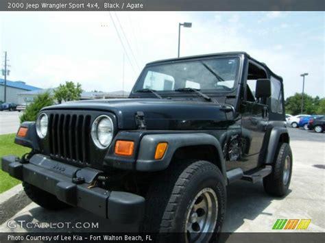 2000 jeep black black 2000 jeep wrangler sport 4x4 agate interior