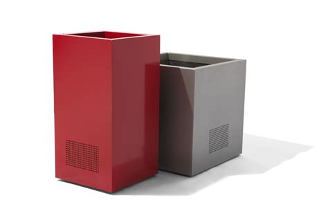Square Metal Planter by Medium Recycled Square Metal Eco Friendly Planter