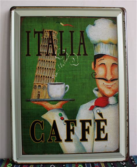 Chef Wall Decor by 30 40cm Retro Chef Signs Wall Decor Metal Plaques Tin Sign