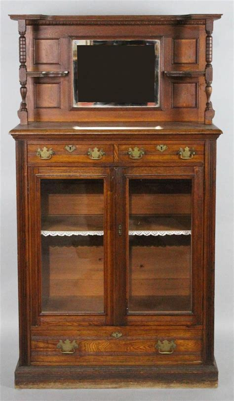 Eastlake Bookcase Eastlake Style Oak Glazed Bookcase