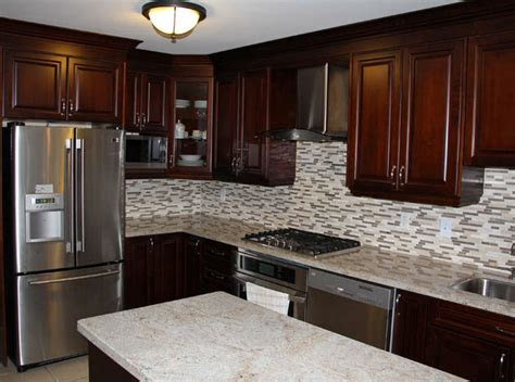 dark cherry kitchen cabinets dark cherry coloured custom kitchen cabinets with granite