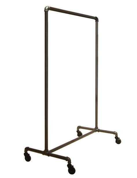 open closet option industrial pipe clothing rack