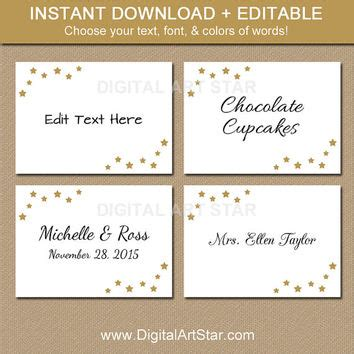 food cards for buffet template shop food place cards on wanelo