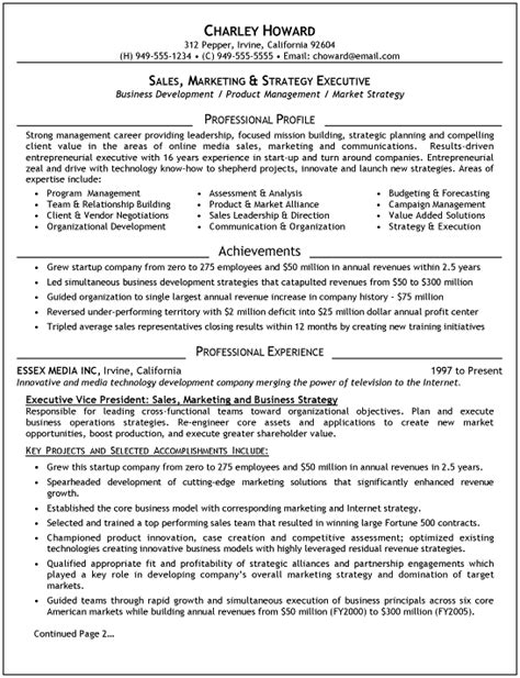 executive resumes sles free executive resume recentresumes