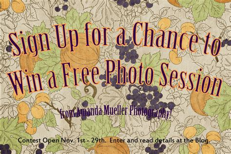 November Contest by Sign Up For A Chance To Win A Free Photo Session