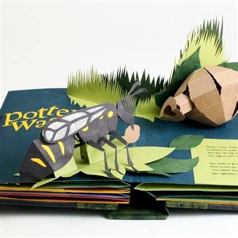 libro animal architecture neighborwood a pop up book of animal architecture by shawn sheehy potter wasp escultura en