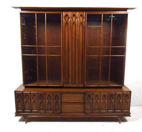 Impressive American Walnut China Cabinet/Hutch For Sale at 1stdibs