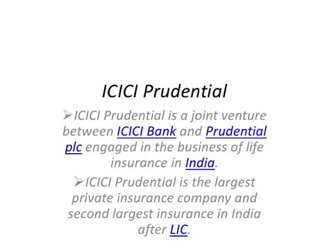 icici bank policy icici prudential presentation