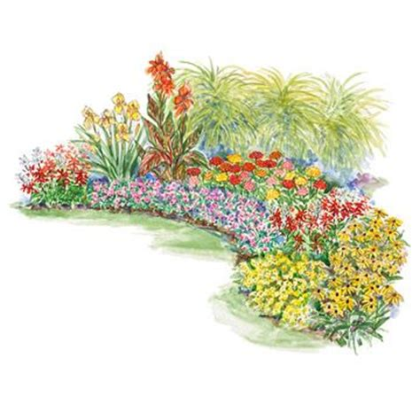 Hot Summer Garden Plan Flower Garden Plan