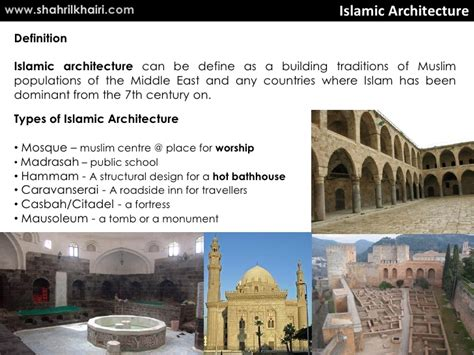 what is the meaning of architecture history of islamic architecture