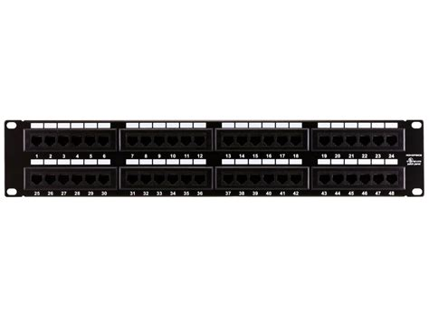 Monoprice 7305 Cat6 Patch Panel 110 Type 48 Port 568a B
