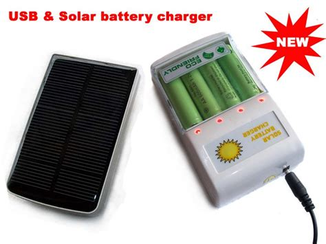 how to charge solar light batteries usb and solar powered battery charger for aa or aaa