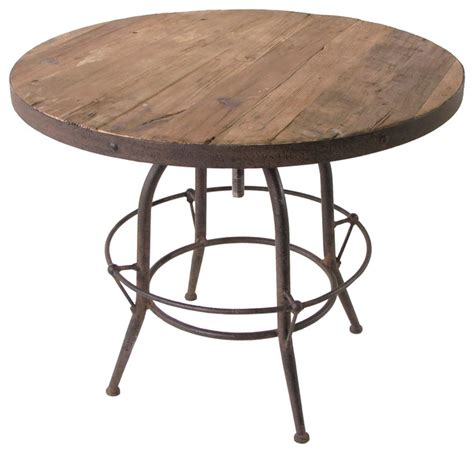 Indoor Bar Table Elemental Reclaimed Wood Industrial Adjustable Dining Bar Table Industrial Indoor Pub And