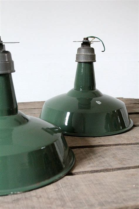 1930s Industrial Lighting Vintage Enamel Warehouse Lights