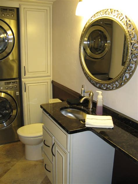 laundry powder room small powder laundry room transitional cloakroom