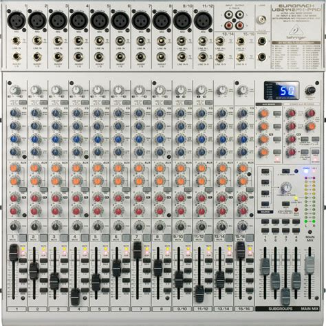 Mixer Behringer Eurorack Ub2442fx Pro Disc Behringer Eurorack Ub2442fx Pro Mixer At Gear4music
