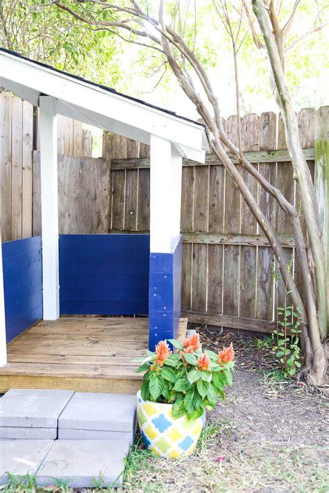 build backyard playhouse easy diy backyard playhouse love renovations