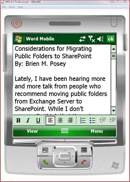microsoft access mobile configure microsoft sharepoint mobile access via exchange