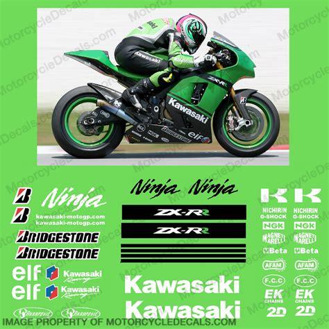 Kawasaki Wsbk Sticker Kit by Kawasaki Kawasaki Motogp Race Decal Kit 2007 R K Zx Rr 07