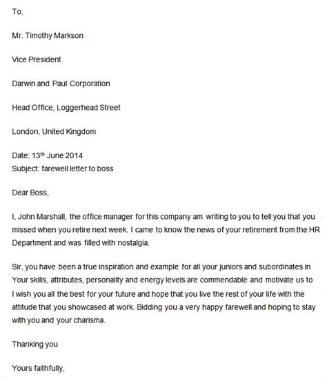Response Letter To Manager Farewell Letter 7 Free Doc