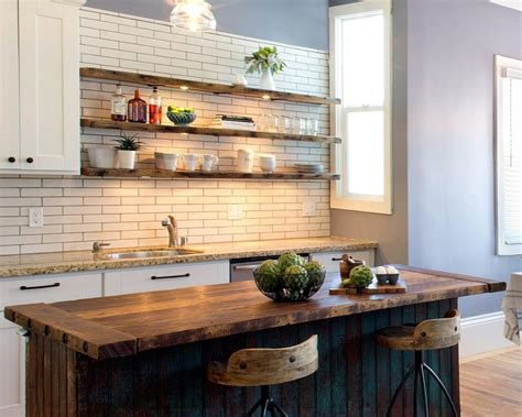 kitchen island with shelves 23 rustic kitchen shelving ideas for modern kitchen