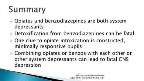 Benzo For Opiate Detox by Pharmacology Opiates And Benzos