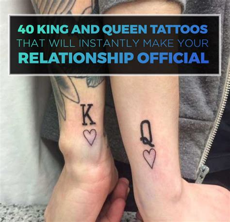 tattoo queen und king 40 king queen tattoos that will instantly make your