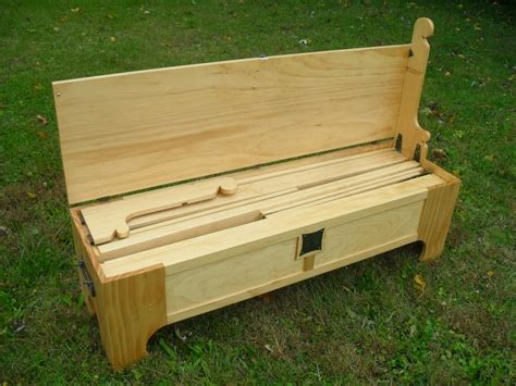 bench that turns into a bed it looks like a bench but it turns into a bed in a box
