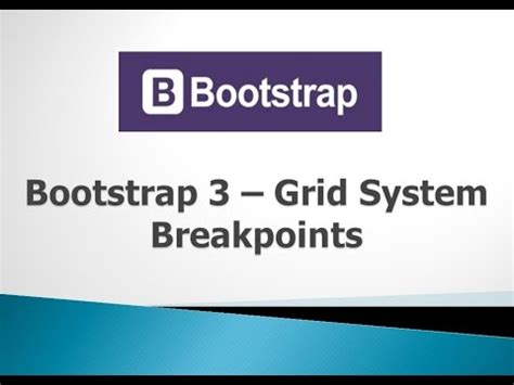 tutorial bootstrap 3 grid bootstrap 3 tutorials 5 breakpoints in grid system