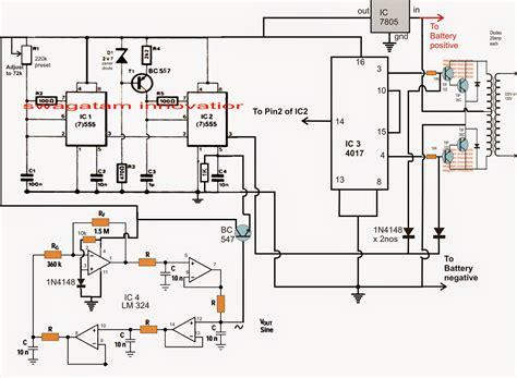 inverter oscillator circuit diagram sine wave inverter circuit using bubba oscillator