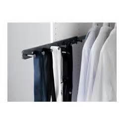 Komplement Wardrobe by Komplement Pull Out Multi Use Hanger Grey 58 Cm Ikea