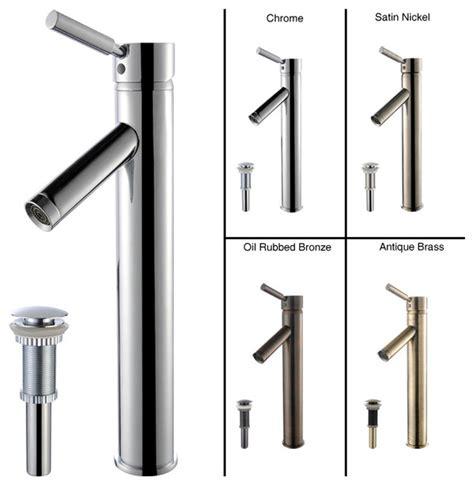 bathroom sink faucets parts kraus sheven bathroom vessel sink faucet with pop up drain