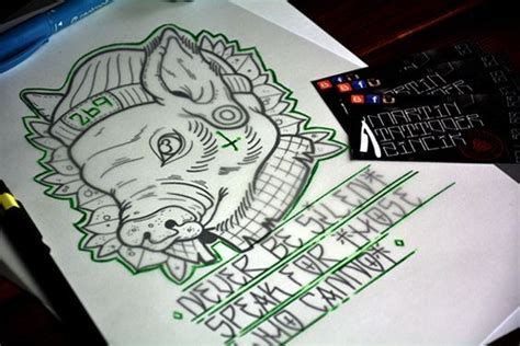 tattoo lettering hipster uncolored pig hipster in cap with lettering tattoo design