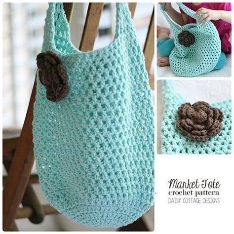 pattern crochet market bag free market tote crochet pattern daisy cottage designs