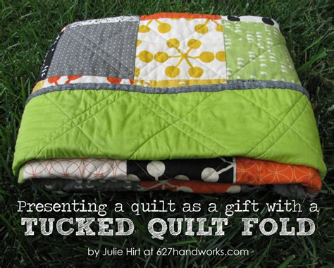 Folded Quilt by Quilt Story How To Tucked Quilt Fold Tutorial By Julie Hirt