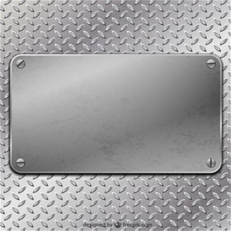 plaque cards vector template metal texture foto e vettori gratis