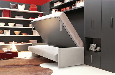 Beds That Fold Into Wall by Transformable Murphy Bed Sofa Systems That Save Up On