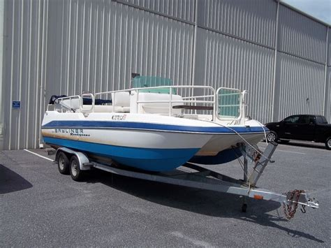 bayliner fishing deck boat used catamaran boat for sale inside the plan