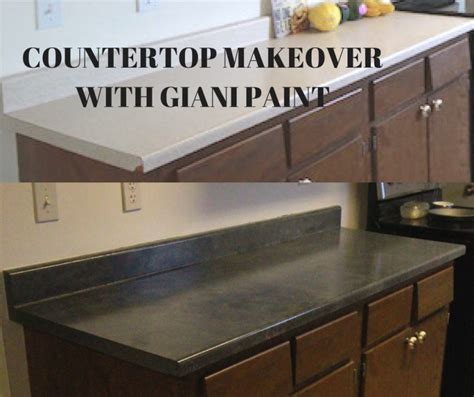 Cheap Countertop Makeover by How To Paint Countertops With Giani Smallhouseliving