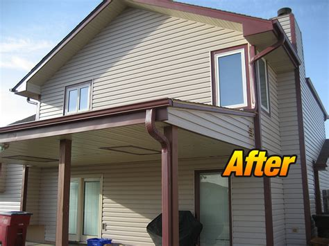 before and after siding fascia and soffit project 187 jd s