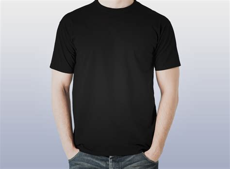 X Tshirt Mens Black by Hootiin Black Plain T Shirt Hootiin